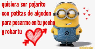 imagenes de minions con frases minion frase amor frases pinterest frases amor amor y