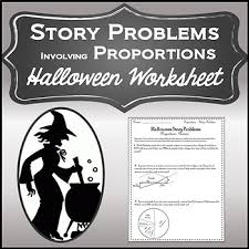 solving proportions activity with word problems halloween algebra
