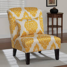 Yellow Accent Chair Living Room Anna Yellow Ikat Accent Chair Home Wishes