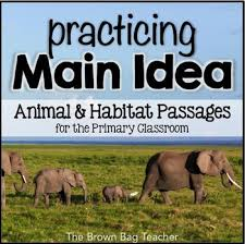 main idea comprehension passages animals u0026 habitats tpt
