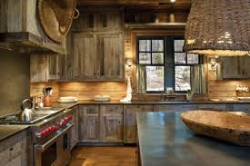 traditional and rustic japanese kitchen design with modern range