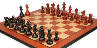 deluxe old club staunton chess set in ebony u0026 african padauk with