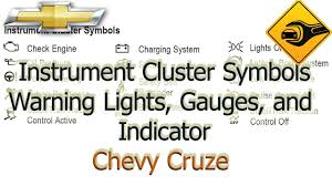 chevy cruze warning lights chevrolet cruze instrument cluster symbols warning lights