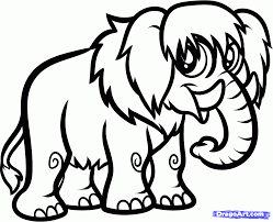 how to draw a woolly mammoth step by step dinosaurs animals