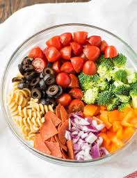 healthy pepperoni pasta salad