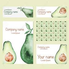 Business Card Invitation Set Of Business Card And Invitation Card Templates With Watercolor