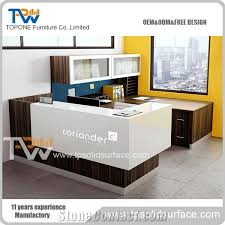 L Shaped Reception Desk Counter L Shape Corian Acrylic Solid Surface Reception Desk With White