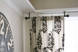 Hang Curtains From Ceiling Designs Wonderful Ideas For Hanging Curtain Rod Design Images About From