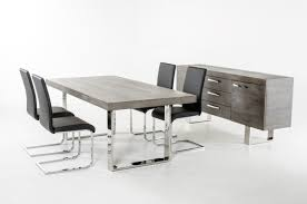 modern grey dining table beautiful grey brush top and stainless steel legs dining table el