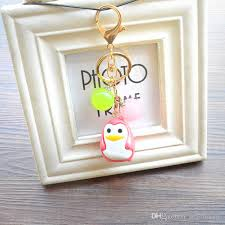 acrylic skeleton ring holder images Creative acrylic beads pendant key chain cute penguin doll jpg
