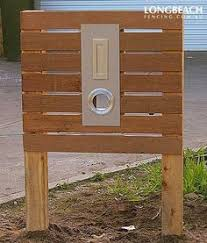 buzon timber and stainless steel hugo pillar letterbox bunnings