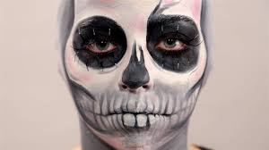 skeleton halloween face skeleton makeup with bald cap tutorial with make up forever youtube