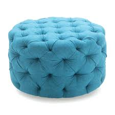Aqua Storage Ottoman Aqua Blue Storage Ottoman Stash Leather Teal Square Tufted