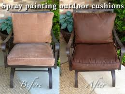 Patio Cushion Diy Why Spend More Spray Painting Outdoor Cushions