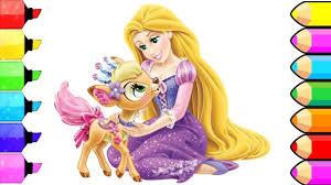 coloring book disney princesses rapunzel coloring pages kids