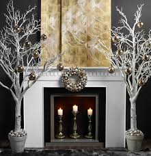 Twig Tree Home Decorating 50 Christmas Mantle Decoration Ideas