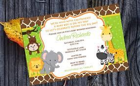 free printable jungle baby shower invitations images invitation