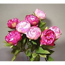 artificial peonies eight stems of artificial silk pink peonies co uk kitchen