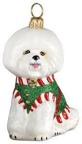 bichon santa s yelper ornament
