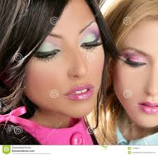barbie women doll 1980s style fahion makeup stock images image