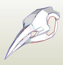 this pattern kit contains 2 different bird skull patterns for