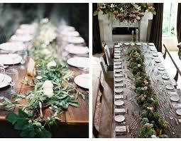 rustic wedding table garland ideas
