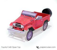lego toyota camry simple fj40 open top land cruiser paper model http