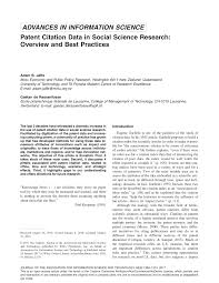 si e m itation patent citation data in social science pdf available