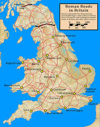 Map Of Germany With Cities And Towns In English by Roman Roads In Britain Wikipedia
