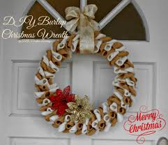 Homemade Christmas Wreaths by Burlap Christmas Wreath Abc Creative Learning Sugar Bee Crafts