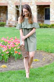 southern anchors olive green with a ruffle on top