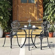ikayaa 2 seater garden patio bistro set aluminum porch balcony