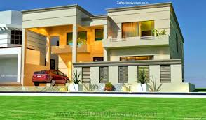 3d front elevation com 1 kanal house design