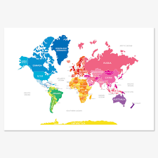 World Map Art Print by 5 Really Cool World Maps To Show Kids The World Kids Rooms