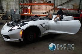 white c7 corvette right passenger door shell convertible arctic white corvette