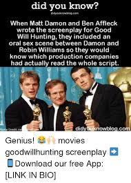 Good Will Hunting Meme - did you know didyouknowblogcom when matt damon and ben affleck