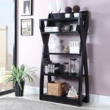 coaster bookcases leaning ladder bookshelf with 2 drawers prime