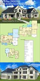 architectural designs 6 bedroom craftsman with sport court plan architectural designs 6 bedroom craftsman with sport court plan 290029iy over 4 000 square feet of