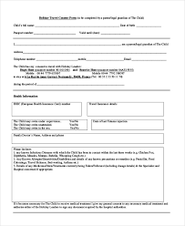 authorization letter for grandparent sample travel consent forms 10 free documents in pdf doc