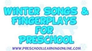 winter songs for preschool fingerplays