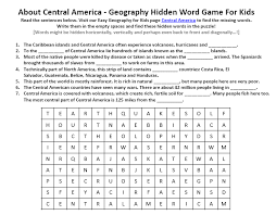 image of central america worksheet free geography worksheets to