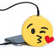 Dutch Flag Emoji Attitude Holland Emoji Blow Kiss Universal Portable Powerbank Yellow