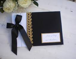 black guest book black white gold guest book personalized wedding guest book