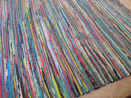 Rag Area Rug 8x10 Rag Rug Scandinavian Style 8by10 Scrap Multi Color Area
