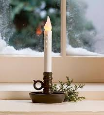 battery operated single window led window candle with automatic