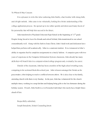 ideas collection sample college recommendation letter from