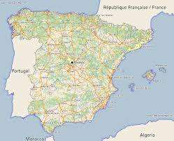 maps of spain free spain map maps of spain