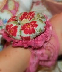 in pink charming wrist pin cushion tutorial