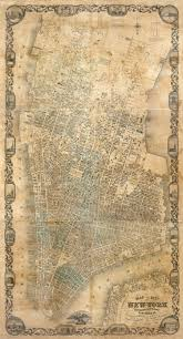 Old Map New York City by The Streets Of New York