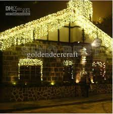 white icicle christmas lights outdoor 110 led icicle lights warm white christmas holiday lighting